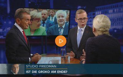 Studio Friedman: Zwischen Bayern und Hessen – ist die GroKo am Ende?