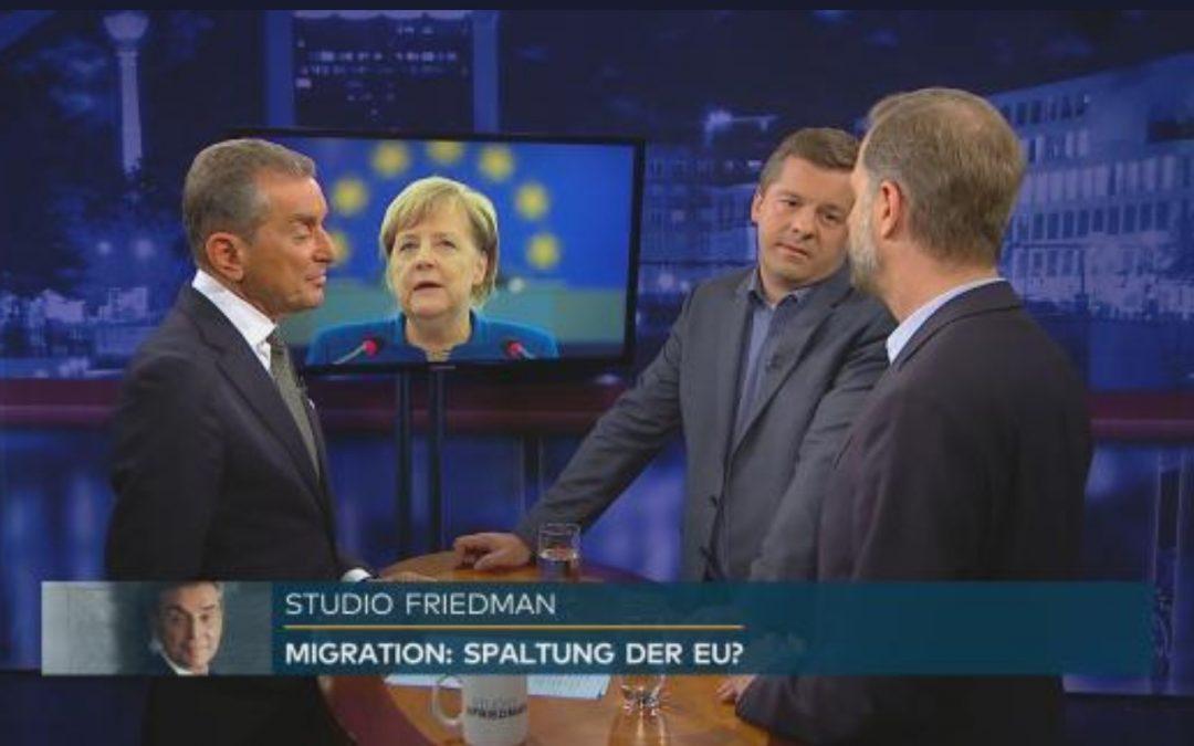 Studio Friedman: Europawahl als Schicksalswahl – Wie viel Solidarität braucht die EU?