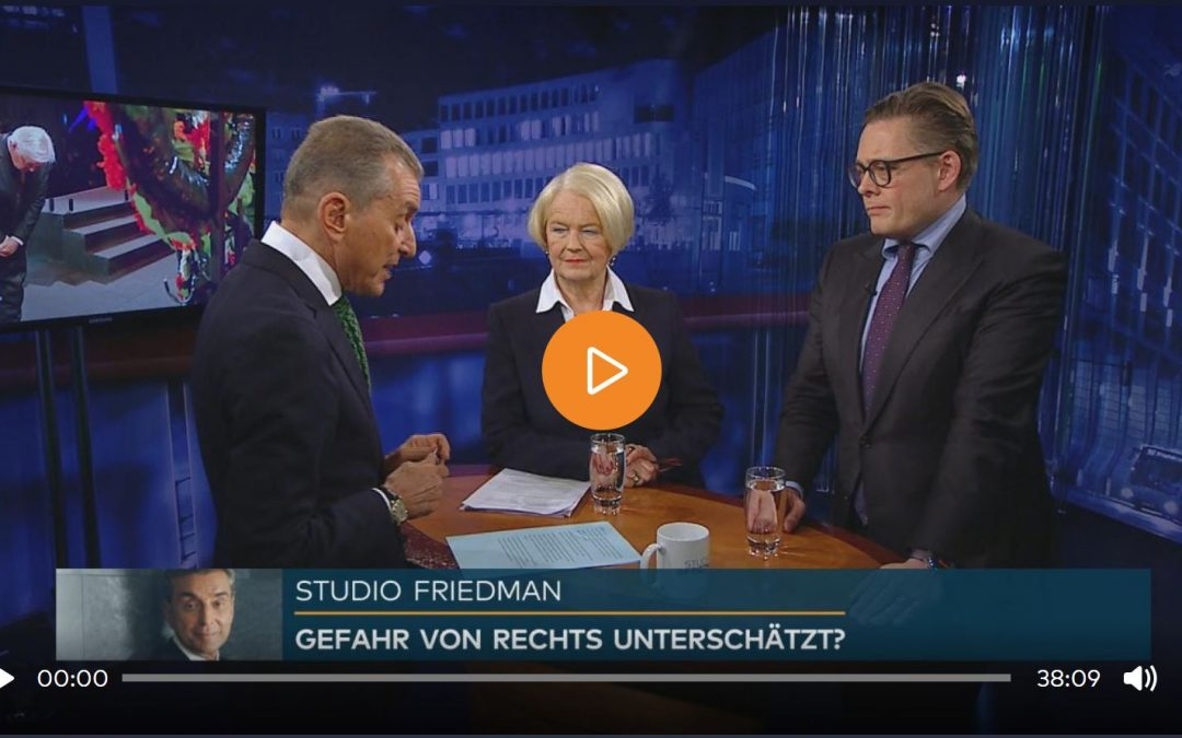 Studio Friedman: 75 Jahre nach Auschwitz – Antisemitismus und rechter Hass in Deutschland